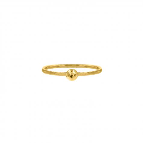 Ring met bolletje groot Goud