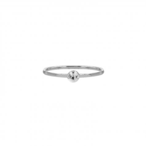 Ring met bolletje groot Zilver