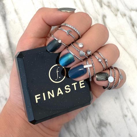 Ring met bolletje zilver
