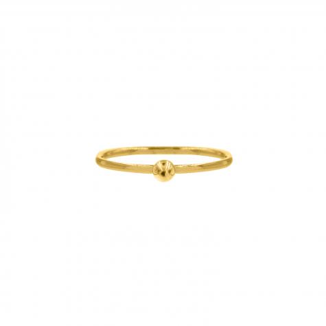 Ring met bolletje klein goud