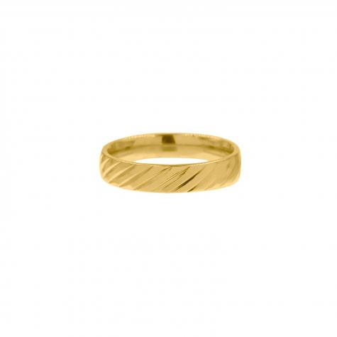 Ring met streepjes goud