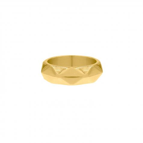 Ring geometrische print goud
