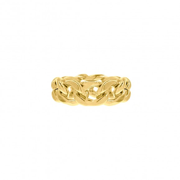 Chain ring goud