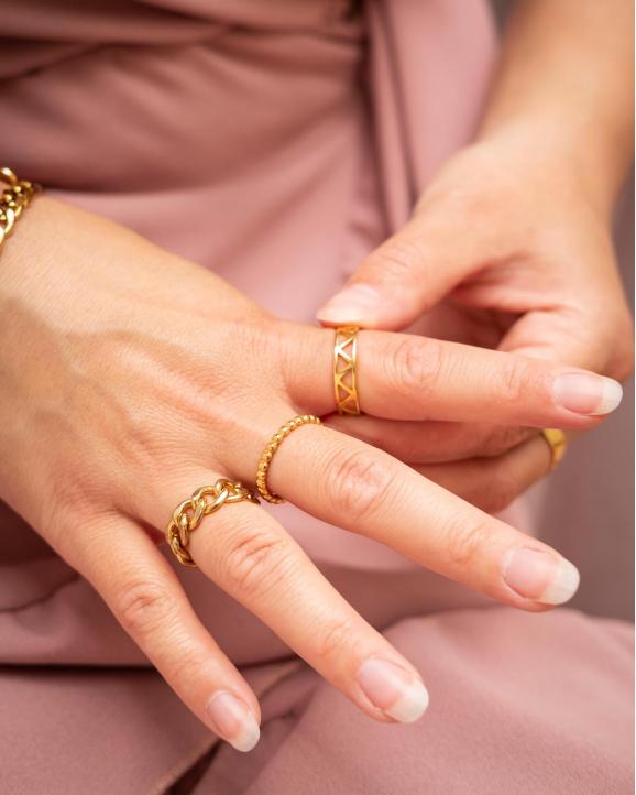 Gouden mix van ringen