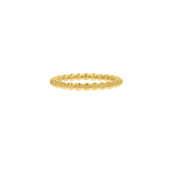 Bolletjes ring gold plated