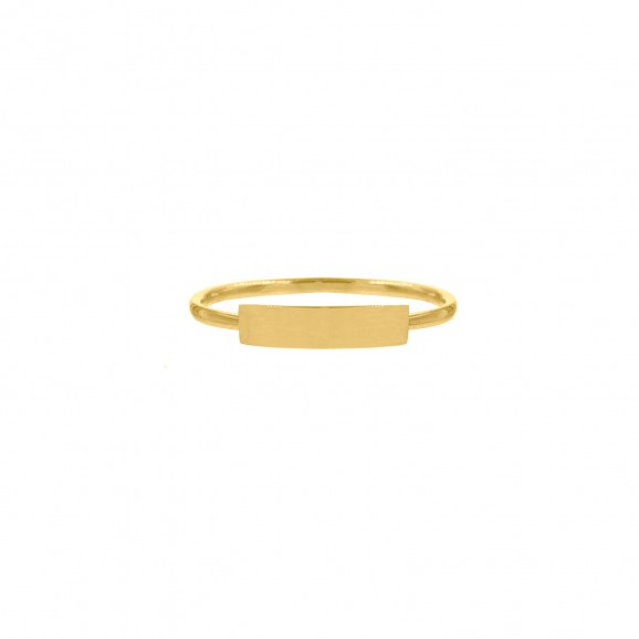 Ring bar gold plated