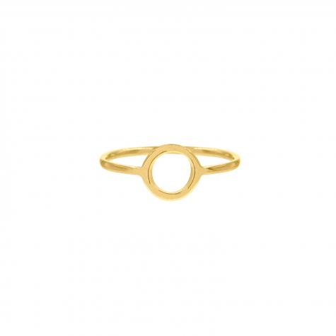 Ring Open Cirkel Goudkleurig