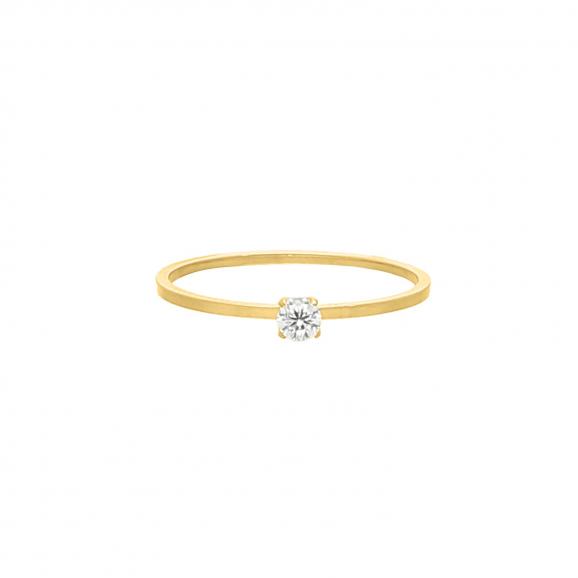 Ring sparkle stone goud kleurig