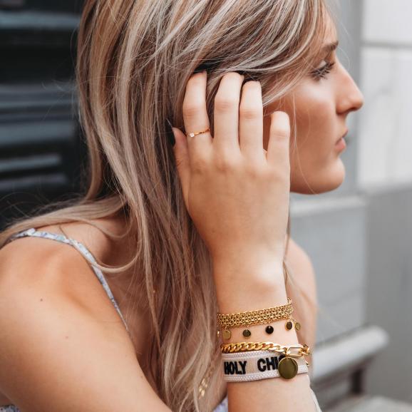 sparkle ring goud om hand model