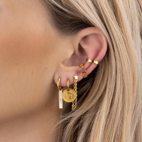 Gouden mix van trendy oorbellen
