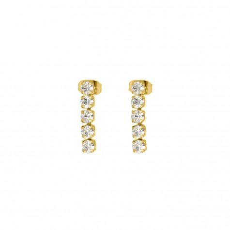 Tennis earrings goud kleurig