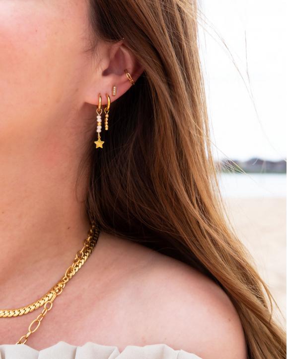 Ear cuff schakels kleur goud