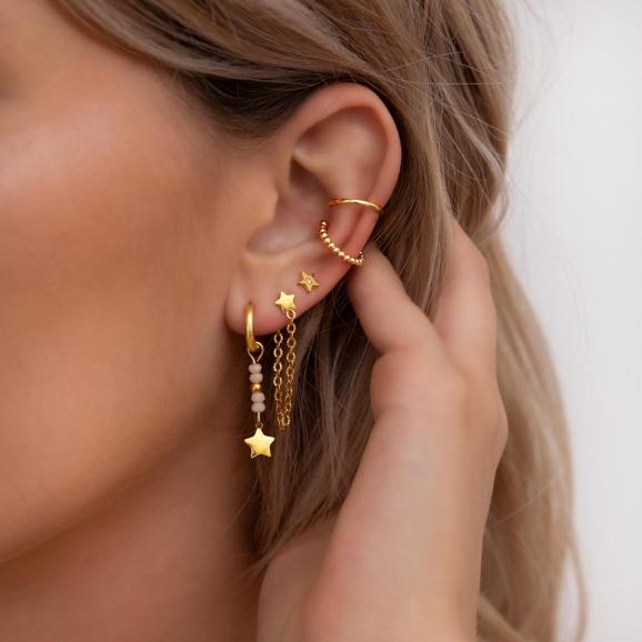 Ketting oorbellen ster goud kleurig