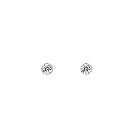 Stud oorbellen met steentje