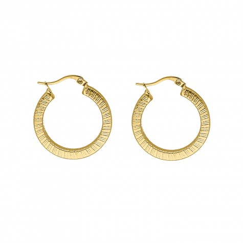 Big chunky hoops kleur goud