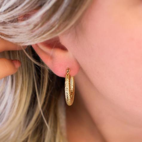 Vintage oorringen kleur goud