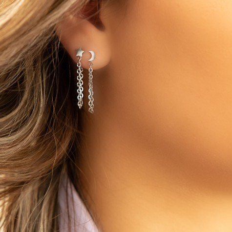 Ketting oorbellen ster