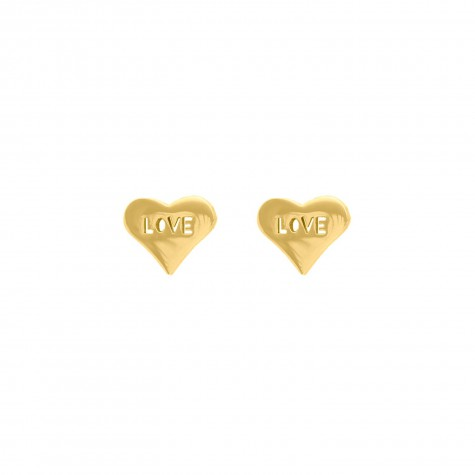 Oorbellen love hartje kleur goud