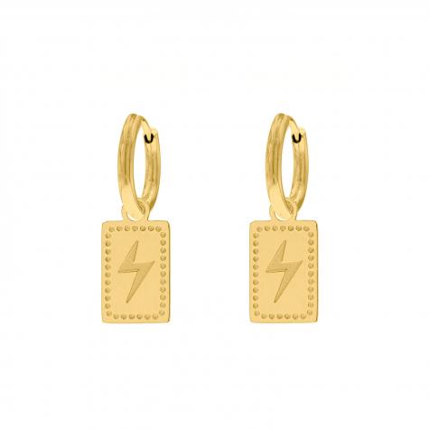 hanger oorbellen bliksem goud kleurig