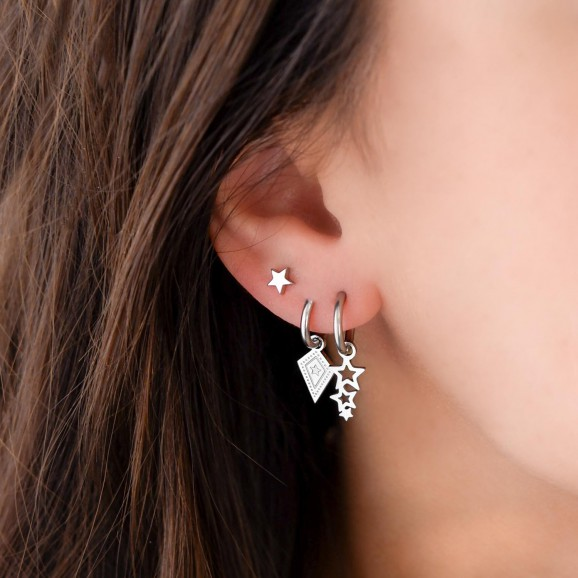 Zilver kleurige sterretjes earparty