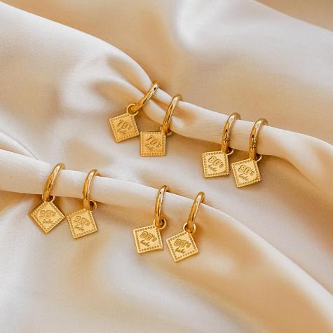 80's babe oorbellen goud kleurig