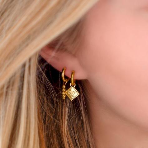 00's babe oorbellen goud kleurig