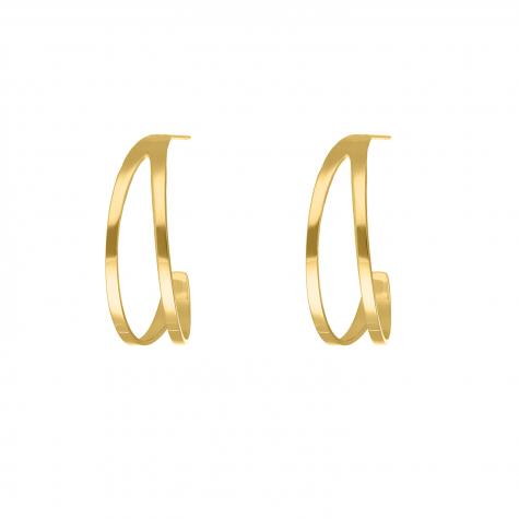 Dubbele oorringetjes goud kleurig