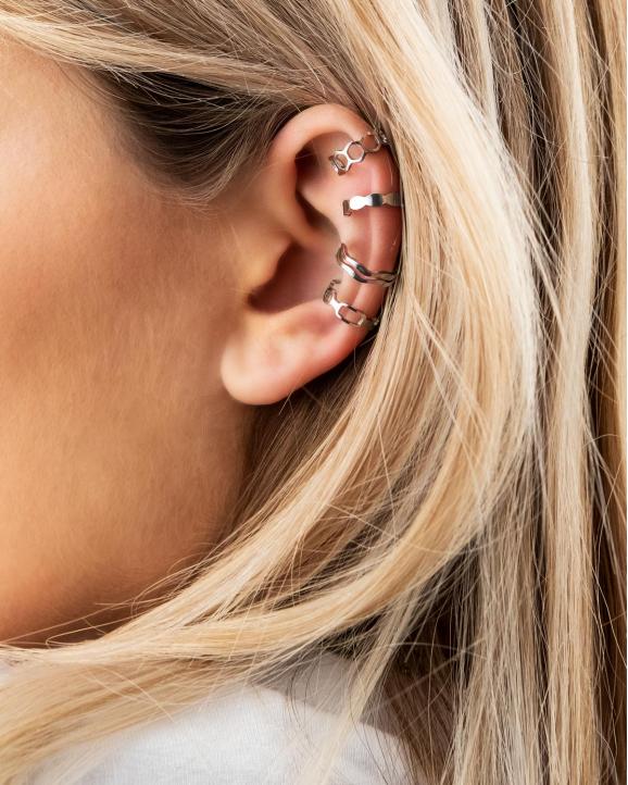 ear cuffs zilver in oor