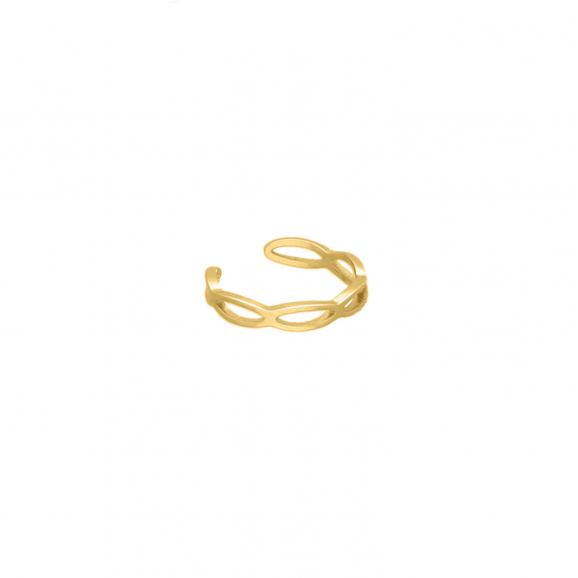 FINASTE Ear cuff schakels kleur goud