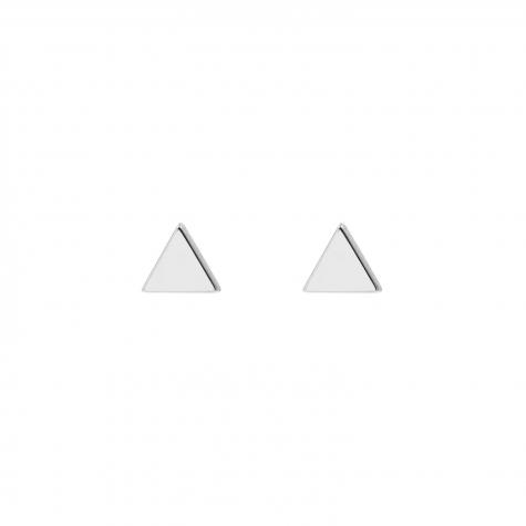 Zilveren driehoek stud oorbellen
