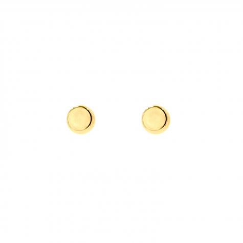 Gouden ronde stud oorbellen
