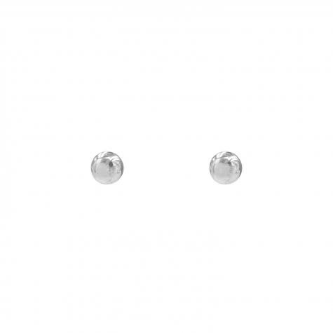 Zilveren stud oorbellen bolletjes