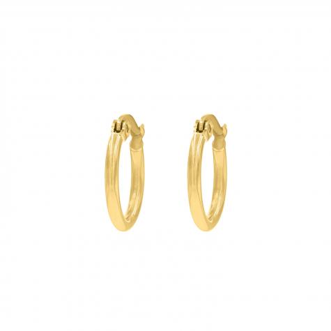 Minimalistische gouden oorringen