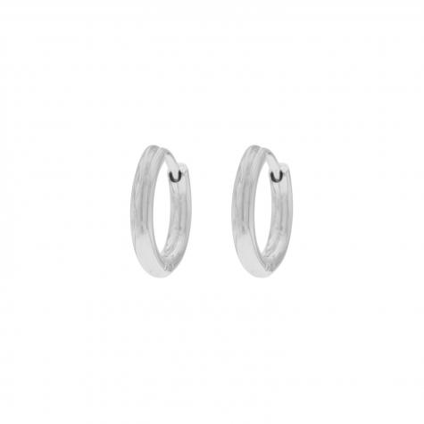 Zilveren oorringetjes minimalistisch