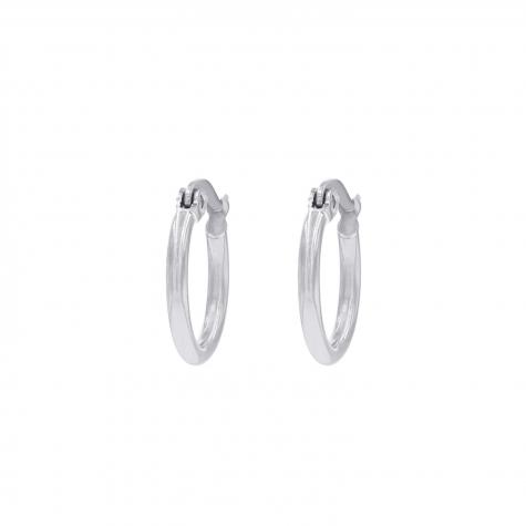 Zilveren minimalistische oorringetjes