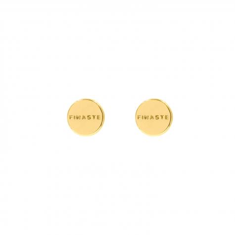 gouden stud met finaste logo