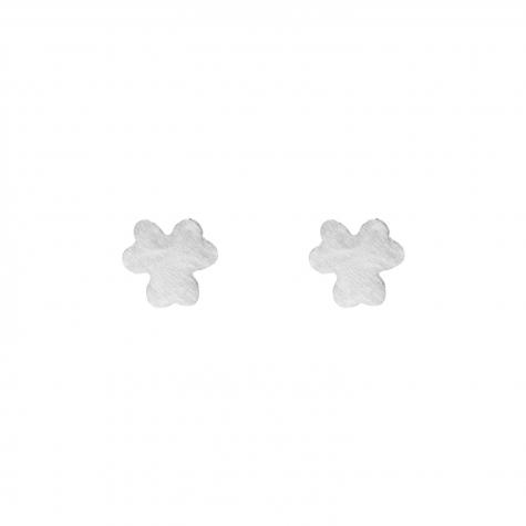 Zilveren klaver stud oorbelletjes
