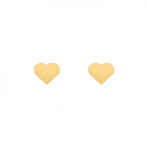 Stud oorbellen hartje 2.0 kleur goud kleurig