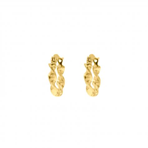 Gouden oorringetjes met twist