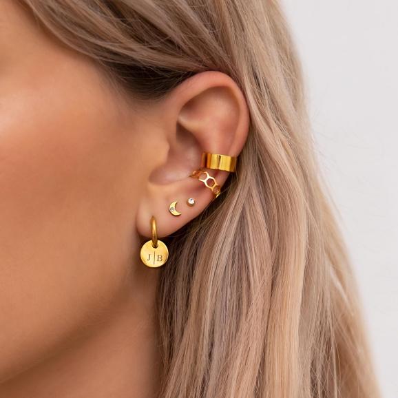 Oorbellen in het oor van het model