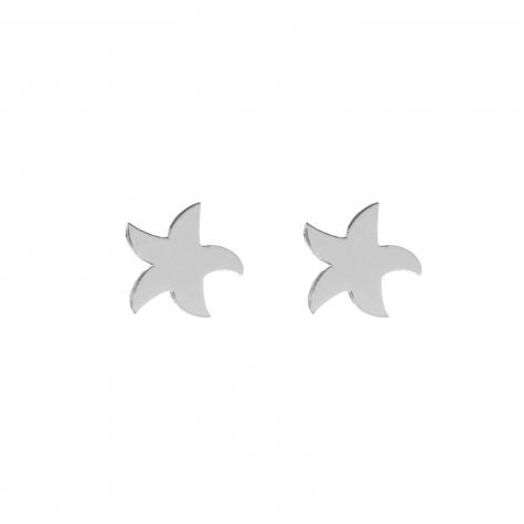 Oorbellen met zeester zilver