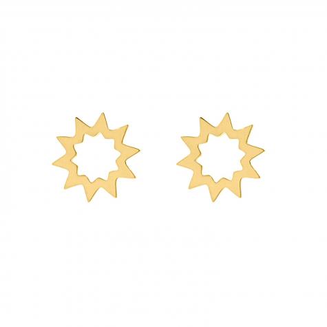 Grote ster studs goud