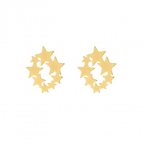 Statement stud oorbellen sterren goud
