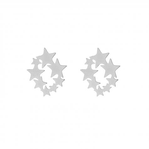 Statement stud oorbellen sterren zilver