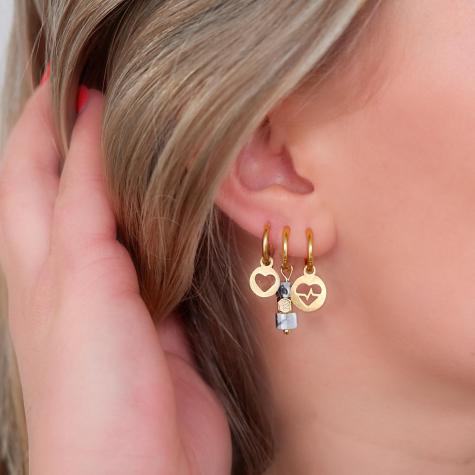 Hartslag oorbellen goud