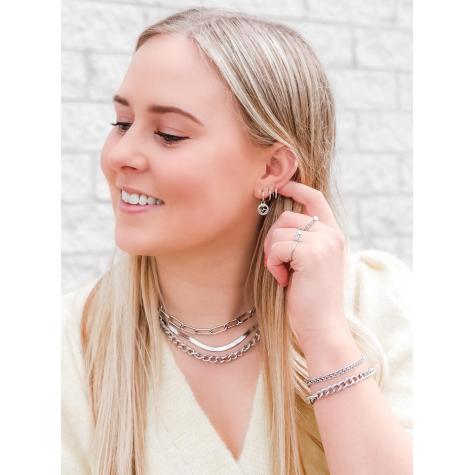 Hartslag oorbellen zilver