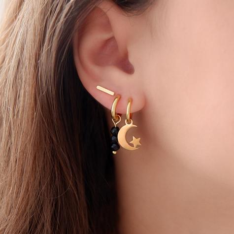 Maan & ster oorbellen goud