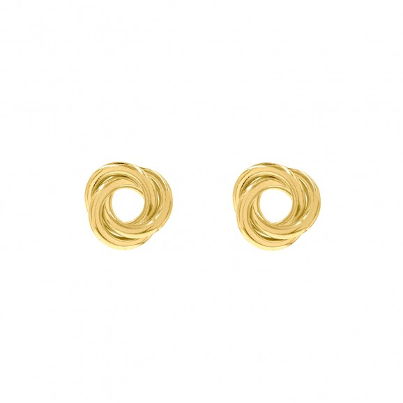 Chunky oorbellen goud kleurig