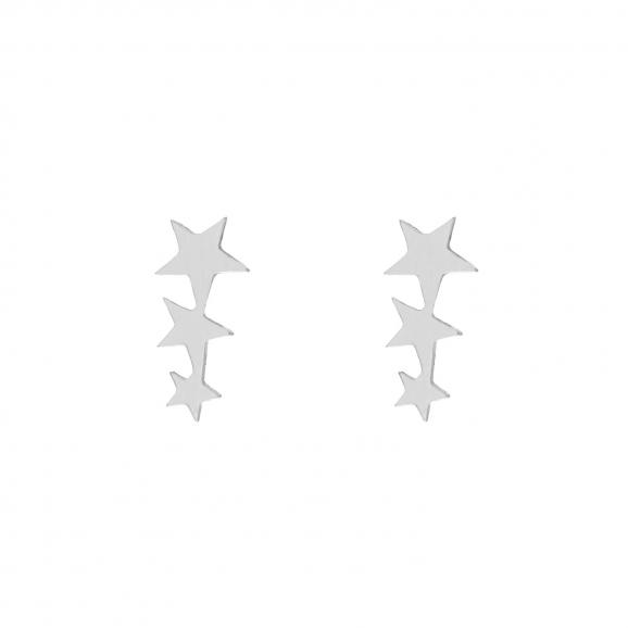 Stud oorbellen met drie sterretjes