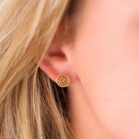 gouden swirl oorknopjes